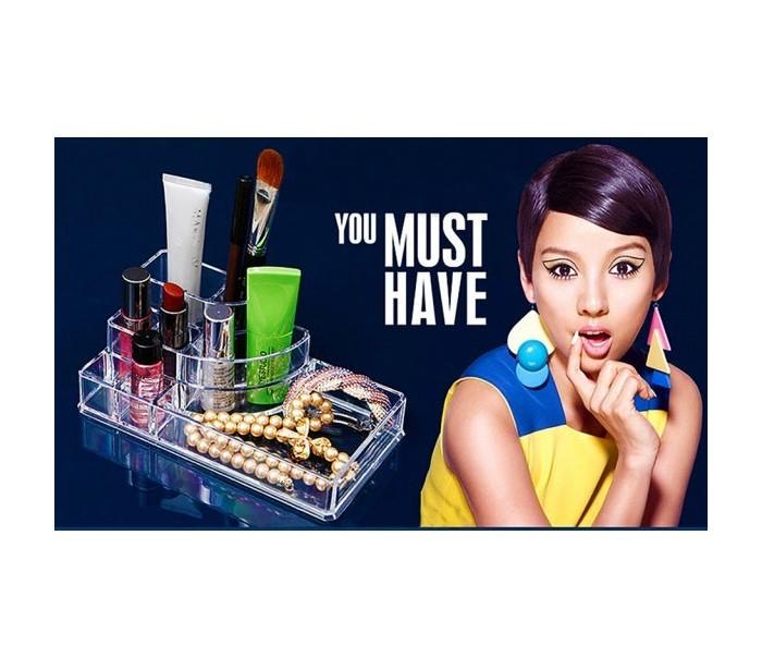 Organizador Cajones Baño:Organizador cosmetica maquillaje joyero de plástico transparente con
