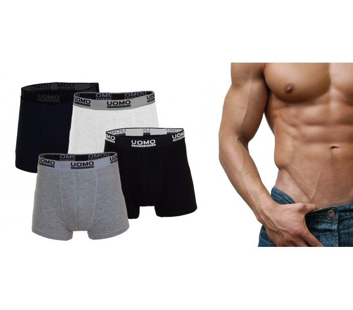 Set de calzoncillos boxer de algod n para hombre de for Ropa interior masculina