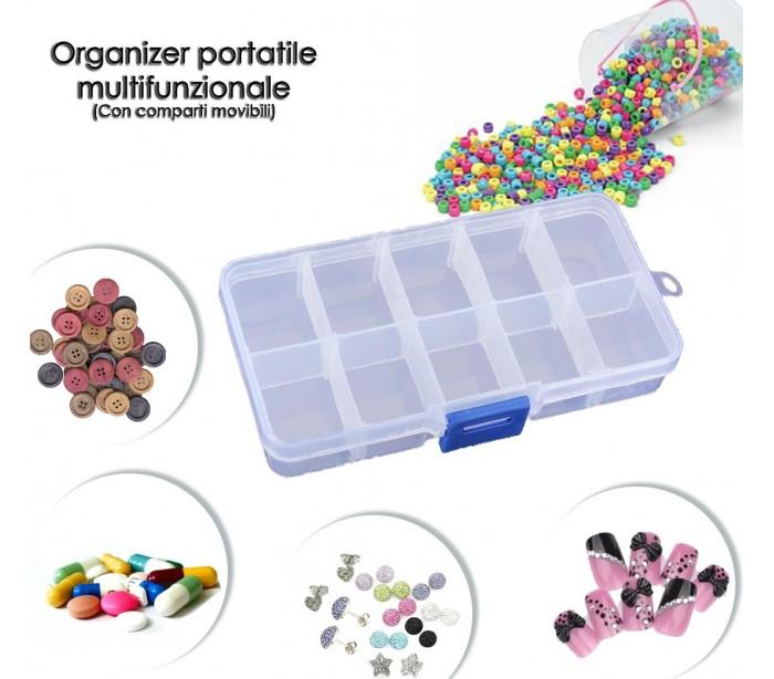 Mini organizador en caja de pl stico con 10 compartimentos - Cajas de plastico para almacenar ...