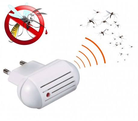 33862 Repelente para insectos ultrasonidos a corriente para 25m2