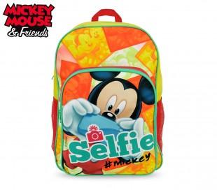 MK16102 Mochila escolar hombro adaptable para Carro de Mickey Mouse 42x31x12cm