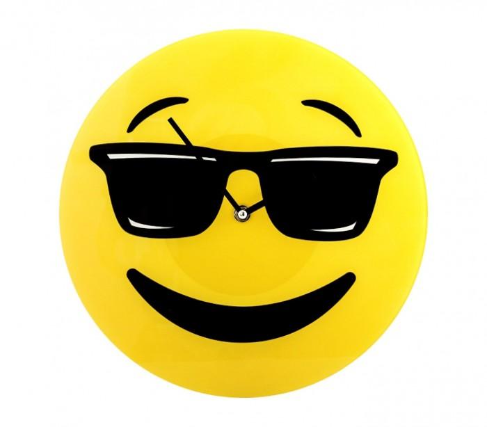 79 3231 reloj de pared de vidrio del emoticono gafas de - Emoticono gafas de sol ...