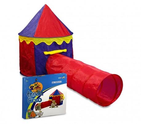 167830 Tienda de campaña para niños con motivo Circo 260x105x125 incluye túnel