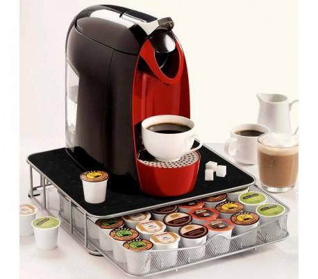 41343 Cajón dispensador cápsulas café hecho metal cap. 30 a 60 cápsulas