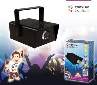 863894 Mini faro proyector 7 led PARTY FUN LIGHT mod. 2 efecto discoteca