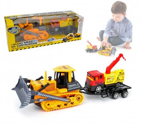 033743 Set de juego de construcción de caminones y excavadoras
