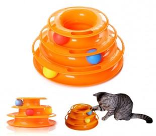 560021 Juego interactivo para gatos de torre circular con bolas giratorias
