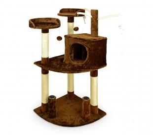 MWS3014 HK1015 Árbol de entrenamiento para gatos con literas y columnas 110 cm