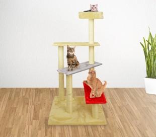HK1038 Árbol de entrenamiento para gatos con escalera y columnas 144 cm