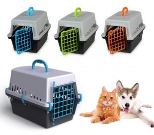 10570 Transportin rejilla plástico de 50 cm perros y gatos