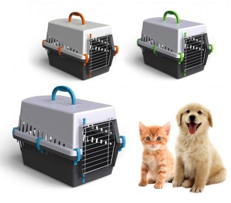 10571 Transportin con rejilla metálica de 50 cm para perros y gatos