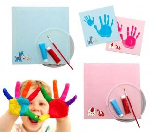 15951 Kit de pintura infantil para la huella de la mano 25x25x1,8 cm