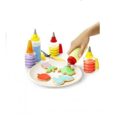 Set de decoración para magdalenas, pasteles, galletas y dulces de 19 piezas