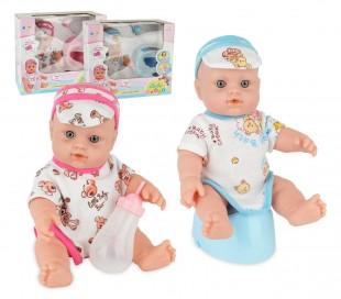 """121495 Muñeca bebé """"Amore pipi"""" con biberon e inodoro chico o chica"""