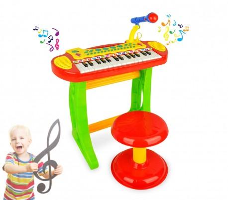 105914 Piano electrónico de juguete con 31 teclas y 20 cm altura