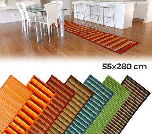 159231 Alfombra natural de bambú 55x280 cm en varios colores