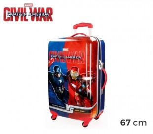 4721551 Trolley rígida de mano en ABS de Capitán América 67x42x24 cm