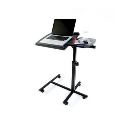 Mesa con ruedas para pc y ordenadores port tiles mediawavestorees - Mesas para ordenadores portatiles ...