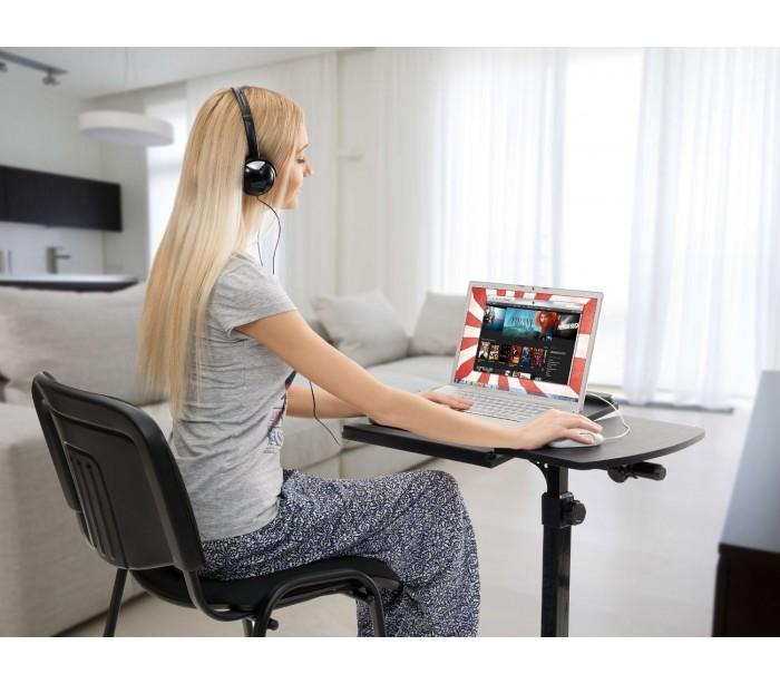 Mesa con ruedas para pc y ordenadores port tiles - Mesa de ordenador con ruedas ...