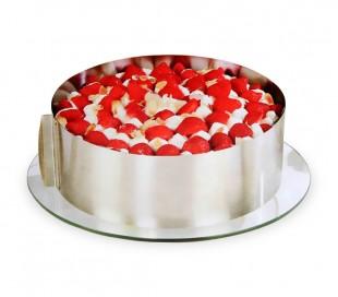 274088 Anillo de acero ajustable para tartas y pasteles de 16 a 30 cm