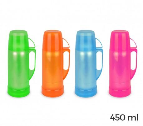 059173 Termo para bebidas WELKHOME recubierto de plástico de colores 450 ml