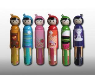 Divertido paraguas infantil regalo niña estilo japonés con mango de muñeca