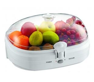 Máquina envasadora para envasar al vacío conservación comida alimentos fruta ver