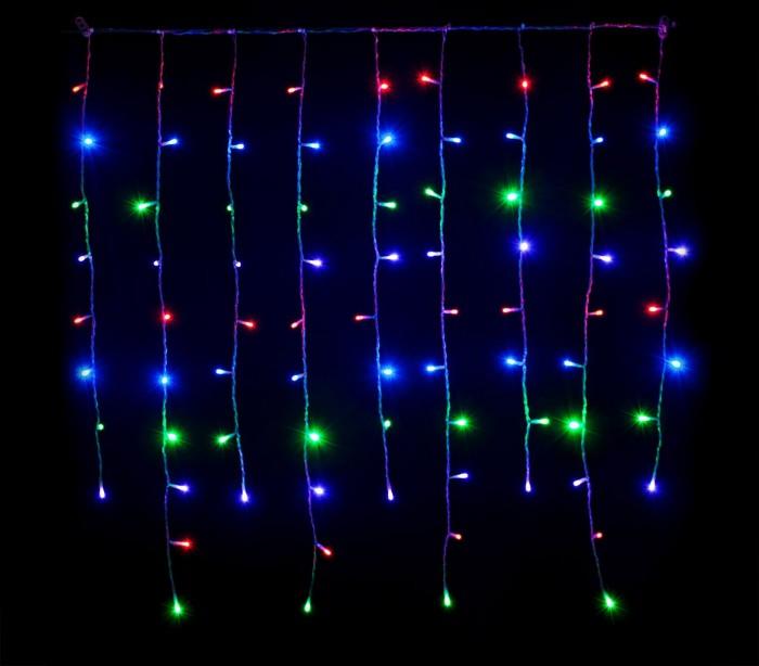031434 cortina efecto multicolor con 416 luces led para la for Cortina de luces