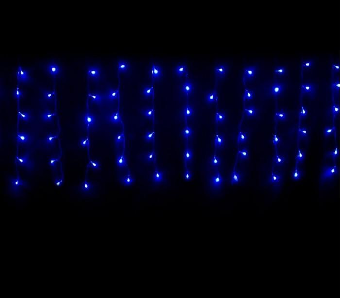 031434 cortina con 416 luces led azules para la navidad for Cortinas con luces