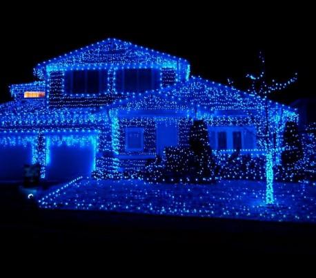 eeb04210fe0 031434 Cortina con 416 luces led azules para la navidad (5metros).  Referencia MWS3193.  Últimas unidades en stock