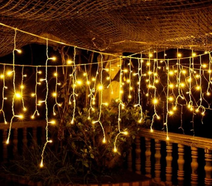 03197 cortina con 416 luces led blancas para la navidad for Cortina de luces