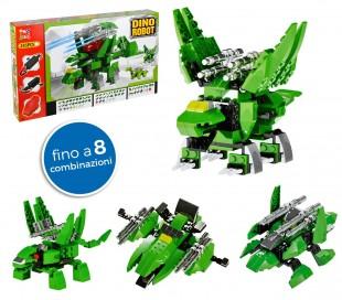 37793 Dino robot verde con 8 combinaciones posibles y 245pz para montar (playset