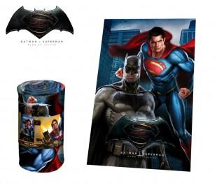 WA16030 Manta polar con motivo BATMAN VS SUPERMAN 100 x 150 cm