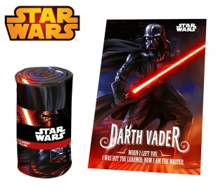 SW92242 Manta polar con motive Darth Vader de Star Wars 100 x 150 cm