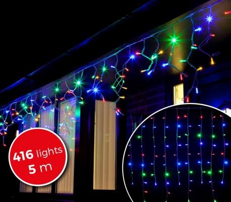 031434 Cortina efecto multicolor con 416 luces led para la navidad (5metros)