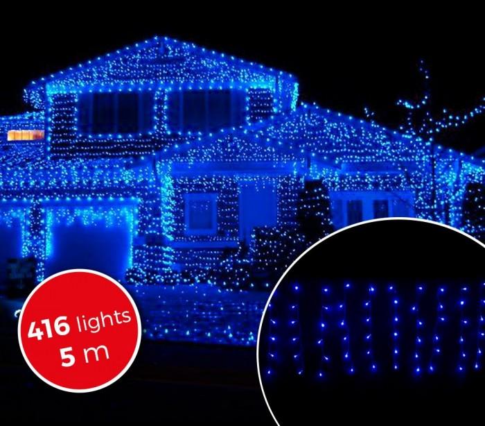 031434 cortina con 416 luces led azules para la navidad for Cortina de luces led