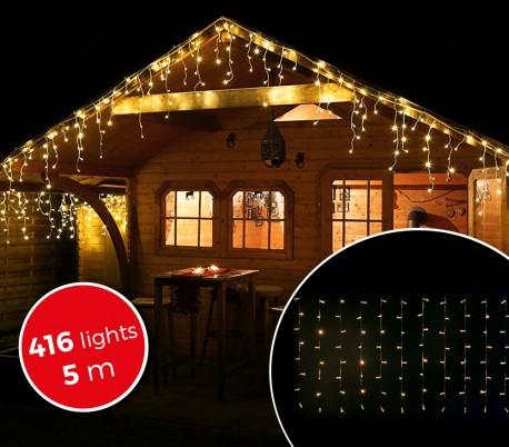 960eba93421 03197 Cortina con 416 luces led blancas para la navidad (5metros)