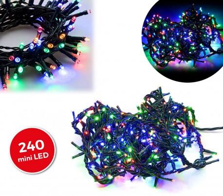 499623 Tira led de 240 guirnaldas efecto multicolor para exteriores