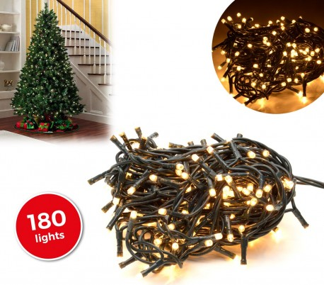 013485 tira led de 180 guirnaldas con luces c lidas cable - Luces led calidas ...