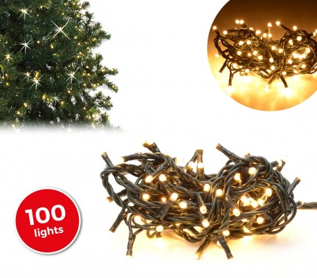 013584 tira led de 100 guirnaldas con luces c lidas cable - Luces led calidas ...