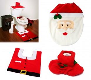 3036 Cojunto completo para el baño con motivo de Papa Noel