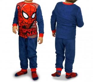 1732 Pijama de terciopelo para niños con motivo de Spiderman (4 a 8 años)