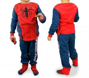 1720 Pijama de algodón para niños con motivo la araña de Spiderman (4 a 8 años)