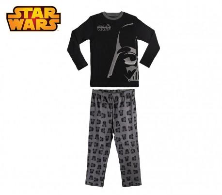 1724 Pijama de algodón para niños con motivo Star Wars 6 a 12 años