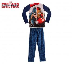 1723 Pijama de algodón para niños motivo Iron-man & Capitán América 6 a 12 años