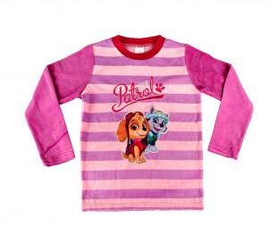 1854 Pijama de terciopelo para niñas con motivo de la Patrulla Canina 3 a 6 años