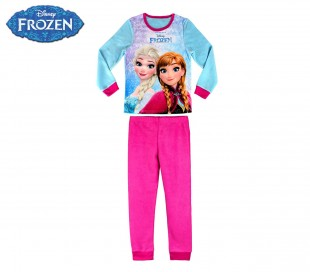1731 Pijama de terciopelo para niñas con motivo Frozen (4 a 8 años)