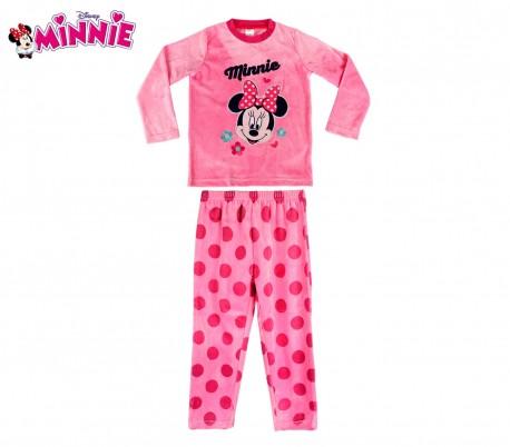 d3fa25f091 1788 Pijama de terciopelo para niñas con motivo de Minnie Mouse 3 a 6 años