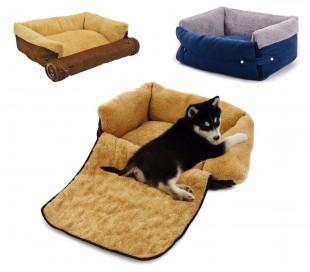 Cama suave para mascotas extensible doble función 112x55x18 cm