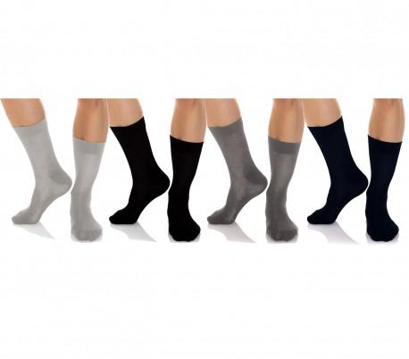 N825 Pack de 12 pares de calcetines cortos para hombres de algodón en varios col